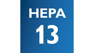 HEPA 13 med HEPA AirSeal bibehåller mer än 99% av dammet