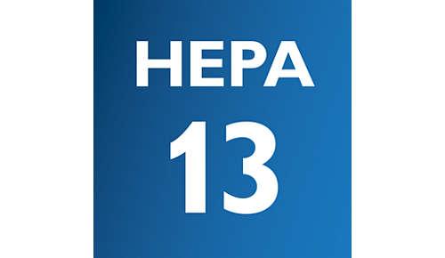 HEPA13 med HEPA AirSeal tilbageholder mere end 99 % støv