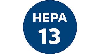 Filtr HEPA13 z uszczelnieniem HEPA AirSeal zatrzymuje ponad 99% kurzu