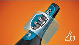 Fortschrittliches Schutzsystem verhindert Zupfen, Verletzungen und Schnitte