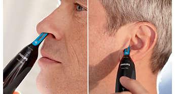Når enkelt hår i örat eller näsan