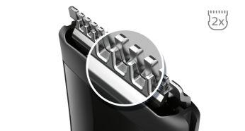 Гостріші леза* для ідеального підрівнювання контурів завдяки технології DualCut