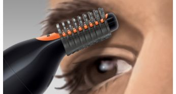 2 combs to tidy up eyebrows - Philips Nose & Ear Trimmer Series