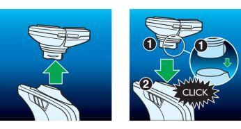 Удобная замена бритвенных головок