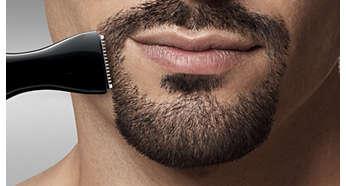 Trimmen und Formen von Gesichtshaar mit Präzision