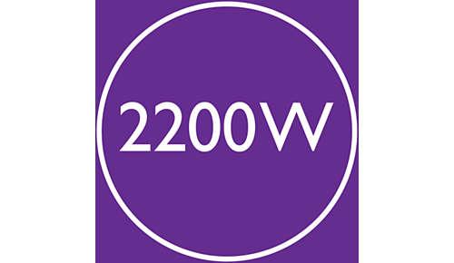 2200 W aan snelle, hoogwaardige droogkracht