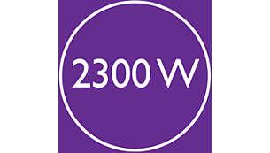 Ισχύς 2300 W για γρήγορο στέγνωμα υψηλής απόδοσης