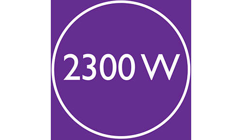 2300 W aan snelle, hoogwaardige droogkracht