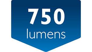 Emisión de luz: hasta 750 lúmenes (hasta 350 lúmenes/módulo)