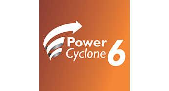 PowerCyclone6 séparant parfaitement la poussière de l'air
