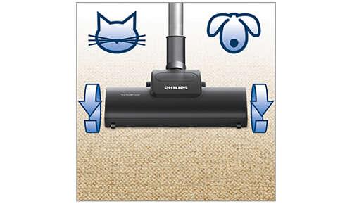 SuperTurbo-borstel voor tapijten zonder haar van huisdieren