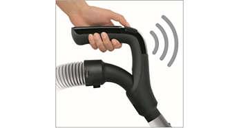 ErgoGrip-afstandsbediening voor starten en onderbreken zonder te bukken