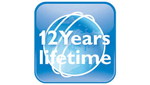 12-year lifetime – guaranteed