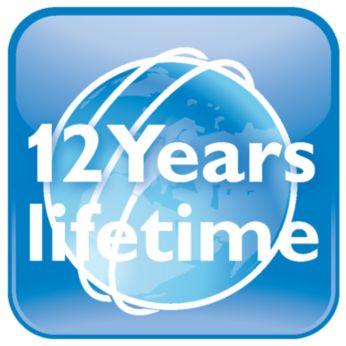 12-year lifetime – guaranteed