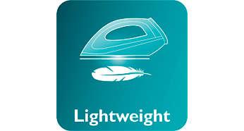 Bàn ủi trọng lượng nhẹ giúp ủi không mất nhiều công sức