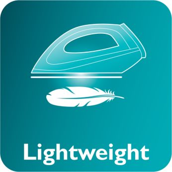 The light weight iron helps to iron with less effort