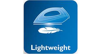เตารีดน้ำหนักเบาช่วยให้รีดลื่นใช้แรงน้อยลง