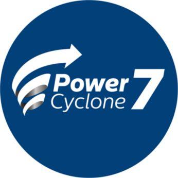 PowerCyclone 7 дольше сохраняет мощную силу всасывания