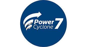 PowerCyclone 7 помогает дольше поддерживать максимальную мощность всасывания
