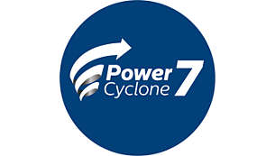 PowerCyclone 7 keeps strong suction power for longer