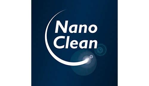 Videz le bac à poussière sans jamais entrer en contact avec la saleté grâce à la technologie NanoClean