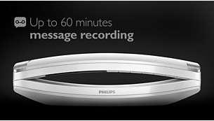 Mensajes de hasta 60minutos en el contestador automático