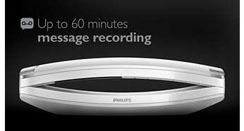 Jusqu'à 60min de messages sur votre répondeur