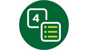 Automatische Kochfunktion mit 4 voreingestellten Programmen (20~25Min.)
