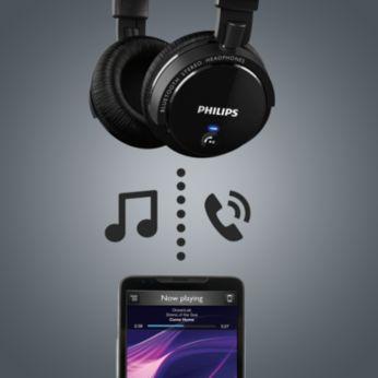 Sencillo control inalámbrico de música y llamadas mediante Bluetooth