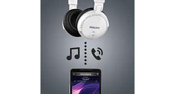 Praticidade com música via bluetooth wireless e controle de chamadas