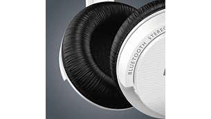Almohadillas suaves para escuchar música durante más tiempo y con mayor comodidad