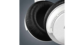 Soft ear cushions for long listening comfort
