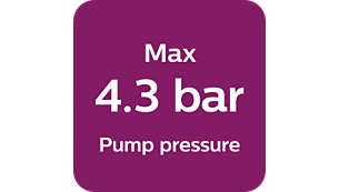 Max 4.3 bar pump pressure