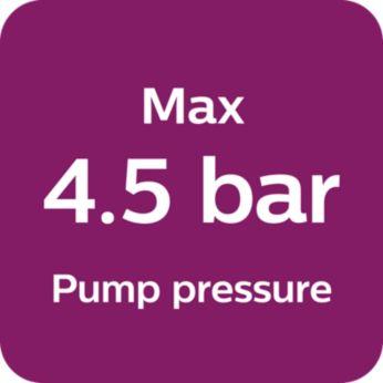 Макс. 4,5 бара налягане на помпата