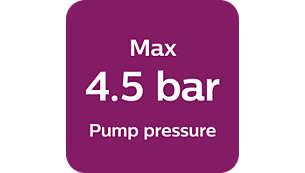 Pression de pompe maxi. 4,5bars