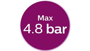 Max 4.8 bar pump pressure