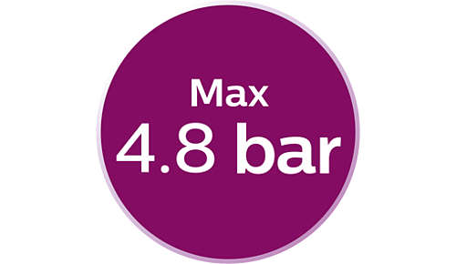 Max. 4,8 Bar Pumpendruck