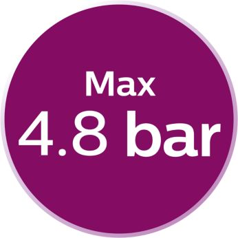 The pressure to 4.8 bar