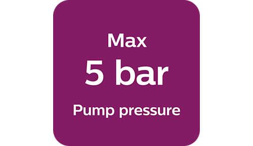 Max. 5Bar Pumpendruck