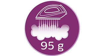 Gleichmäßiger Dampfausstoß bis 95g/Min