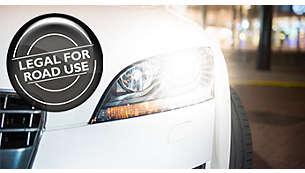 100% 符合道路行車法令規定,100% 強力白光