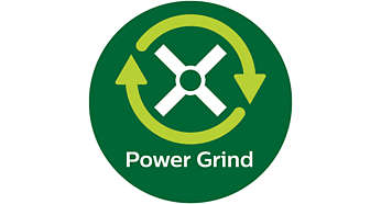 PowerGrind technology cuts beans finely, no filtering