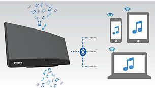 Stream music over Bluetooth® with multi-device pairing