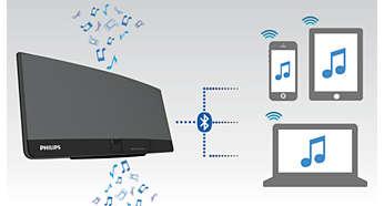 Потоковая передача музыки через Bluetooth® благодаря возможности сопряжения с несколькими устройствами