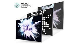 Nagradzana technologia Micro Dimming Premium zapewnia wspaniały kontrast
