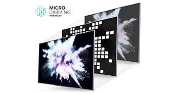 Mnohokrát ocenená technológia Micro Dimming Premium pre vynikajúci kontrast
