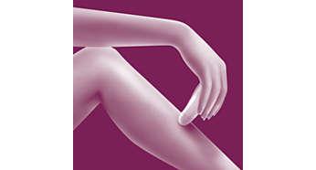 Snel epileren van armen en benen