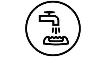 Brossette de nettoyage incluse et tête d'épilation lavable.