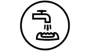 Dołączona szczoteczka do czyszczenia i głowica depilująca z możliwością mycia.