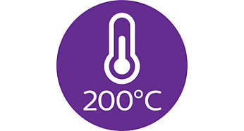 Professional 200°C styling temperature